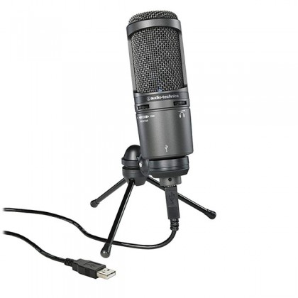 Audio Technica AT2020USB+ Cardioid Condenser USB Mic Microphone With Pop Filter (AT2020)