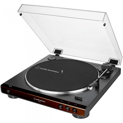 Audio Technica AT-LP60X-BW Fully Automatic USB Belt Drive Stereo Turntable Black Disc Player (ATLP60X AT-LP60X AT LP60X)