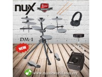 NUX DM1 ELECTRICAL DRUM SET DIGITAL DRUM WITH DRUM STICK HEADPHONE AMPLIFIER DRUM STOOL