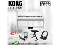 KORG LP-380 88 Key Digital Piano White with Headphone and Bench (LP380)