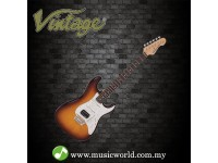 VINTAGE GUITAR V6 CUSTOM SPEC VIBRATO ELECTRIC GUITAR - FLAME TOBACCO BURST