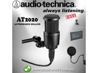 Audio-Technica AT2020 Cardioid Condenser Microphone with Pop Filter (AT 2020)