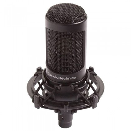 Audio Technica AT2035 Cardioid Condenser Microphone with Mic Clamp , Pop Filter & Cable (AT 2035)