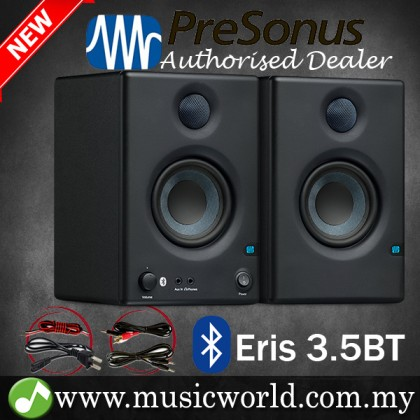 "PreSonus Eris 3.5 BT 3.5"" Powered Studio Monitor Speaker with Bluetooth (E3.5BT E3.5 E 3.5)"