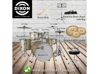 Dixon Drum Set Gold Silk Drum Set Fuse Series Dum Kit [5pcs]