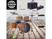 DIXON Drum Set Jet Set Plus Silent Drum set Orange Sparkle Travel Drum Kit