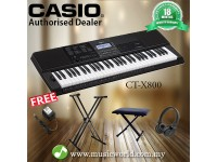 CASIO CT-X800 PORTABLE KEYBOARD ELECTRIC KEYBOARD PREMIUM BUNDLE (CTX800 / CT X800 / CTX 800)
