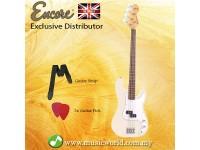 Encore E4VW Bass Guitar Vintage White Electric Bass Guitar
