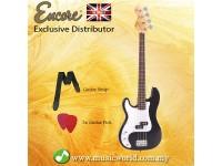 Encore LH-E4BLK Left Handed Bass Guitar Black Glossy Blaster Electric Bass Guitar
