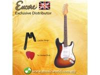 Encore E6SB Electric Guitar 3 Tone Sunburst Solid Body Electric Guitar