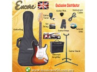 ENCORE EBP-E6SB Sunburst Electric Guitar Package Starter Pack Electric Guitar Bundle