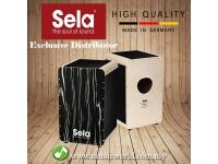 Sela® Wave Black Makassar SE024 Premium Cajon Drum Kit Professional Snare Cajon