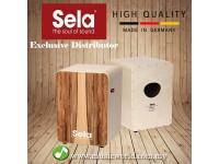 Sela® CaSela Pro Satin Nut Cajon SE010 Professional Snare Cajon With On Off Mechanism