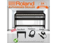 Roland F-140R 88 key Digital Home Piano Bundle Black (F140R F140 F 140 R)