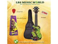JHS TMUK2 Teenage Mutant Ninja Turtles Ukulele Package With Bag Pitchpipe Plectrum