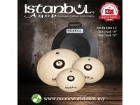 """ISTANBUL AGOP Cymbals Xist Brilliant Set 14"""" Hi-Hats 16"""" Crash 20"""" Ride Cymbal Set With Case"""