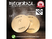 """ISTANBUL AGOP Cymbals MSX 18"""" Marching Cymbal With Holder"""