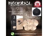 "ISTANBUL AGOP Cymbals ART 4 Piece Set 14"" Hi-Hats 16"" 18"" Crash 20"" Ride Set With Bag"