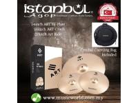 "ISTANBUL AGOP Cymbals ART 3 Piece Set 14"" Hi-Hats 16"" Crash 20"" Ride Set With Bag"