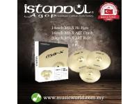 """ISTANBUL AGOP Cymbals MS-X 3 Piece Set 14"""" Hi-Hats 16"""" Crash 20"""" Ride Set"""