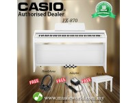 Casio PX-870 88 Keys Digital Piano White with Bench and Headphone (PX 870 / PX870)