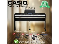 CASIO CDP-235 88 Key Digital Piano Basic Bundle (CDP235 CDP 235)