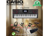 CASIO CT-X5000 61 Key Portable Keyboard Premium Bundle (CTX5000 CTX 5000)