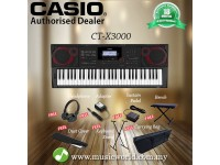 CASIO CT-X3000 61 Key Portable Keyboard Premium Bundle (CTX3000 CTX 3000)
