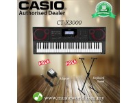 CASIO CT-X3000 61 Key Portable Keyboard Basic Bundle (CTX3000 CTX 3000)