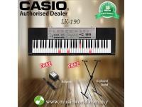 CASIO LK-190 61 Key Self Learning Lighting Portable Keyboard Basic Bundle (LK190 LK 190)