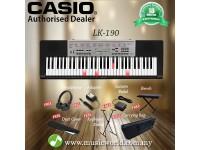 CASIO LK-190 61 Key Self Learning Lighting Portable Keyboard Premium Bundle (LK190 LK 190)