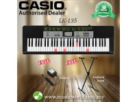 CASIO LK-135 61 Key Self Learning Lighting Portable Keyboard With Stand (LK135 LK 135)