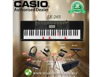 CASIO LK-265 61 Key Self Learning Lighting Keyboard Complete Bundle ( LK265 LK 265)