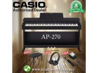 CASIO AP-270 88 Key Celviano Digital Piano Black With Bench and Headphone (AP270 AP 270)