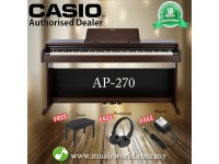 CASIO AP-270 88 Key Celviano Digital Piano Brown With Bench and Headphone (AP270 AP 270)
