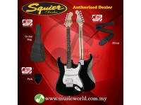 SQUIER by FENDER Electric Guitar Bullet stratocaster HSS Hardtail Rosewood Black