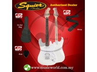 SQUIER by FENDER Electric Guitar Bullet stratocaster HSS Hardtail Rosewood Arctic White