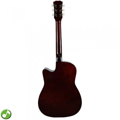 ZTA 38 Inch Acoustic Guitar Cutaway Starter Pack Folk Guitar Package - Natural